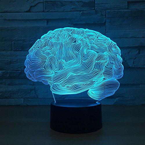 Abstrakte Illusionsgehirnlichtfarbnotenschalternachtlicht-Tischlampenatmosphärenlicht-Neue Beleuchtung