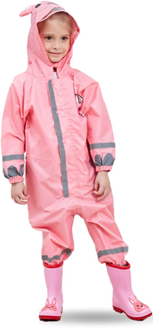 Kids Waterproof Yellow Raincoat Challenge the lowest price of Japan Hooded Max 61% OFF Co Down Button Reflective
