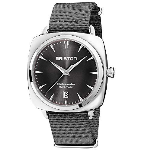 Briston Clubmaster Iconic - Reloj automático de Acero con Esfera Gris