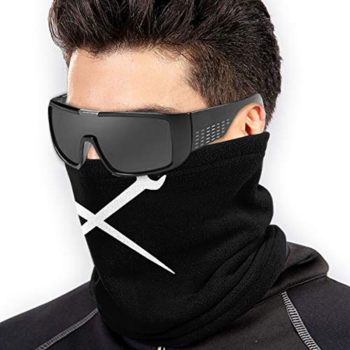 Crewneck Ironworker Crossed Tools Unisex Windproof Sports Scarf Outdoor Neck Warmer Bandana Balaclava Headwear Black