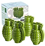 HINMAY Grenade Ice Cube Mold Silicone Grenade Chocolate Cake Mold, Set of 4
