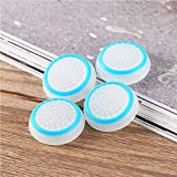 Tobo Protective Silicone Thumb Grip Joystick Grip caps Compatible with PS4 / 3,X-Box 360 / X-Box one Game Controllers. [2 Pair / 4 Pcs] (White & Blue)