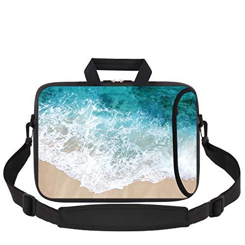 iCasso Laptop Sleeve 11.6-12.1 Inch Stylish Soft Neoprene Sleeve Case Cover Handbag for MacBook Air 11,MacBook Retina 12 Inch/iPad Pro/Ultrabook Netbook Tablet - Beach