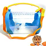POPETPOP Cage de Transport pour Hamster-Pet Cage pour Transporteur extérieur Cage Portable pour Petit Animal avec bandoulière réglable