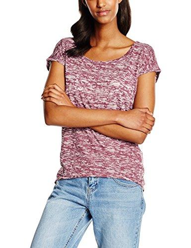 Urban Classics Ladies Burnout tee, Camiseta para Mujer, Rot (Burgundy 606), Large