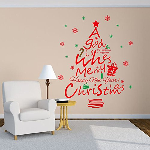 Festive Christmas Tree Wall Decals For The Holiday Spirit  Uniq