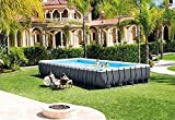 K.W Estate Portatile Strumento Ultra Durable XTR 32ft x 16ft x 52' Cornice Rettangolare Piscina Fuori Terra Lili