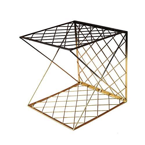 JCNFA planken Boekenplank, Mesh Handschoen Opbergplank, Verloopkleur, Gestapelde Combinatie Boekenplanken, Twill Grid Design, 2 Kleuren