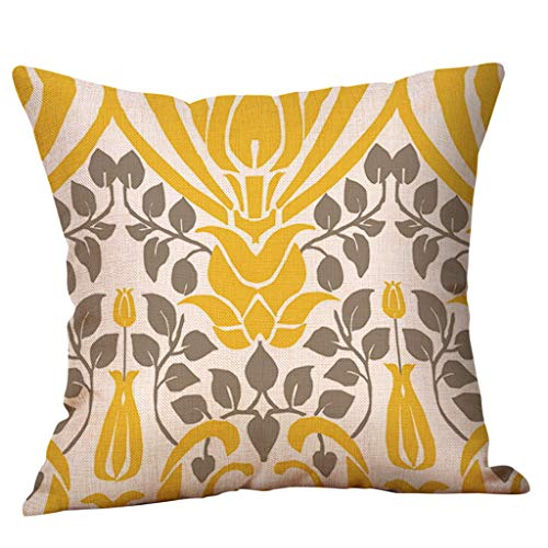 jieGorge Mustard Pillow Case Yellow Geometric Fall Autumn Cushion Cover Decorative, Pillow Case , for Christmas Day (A)