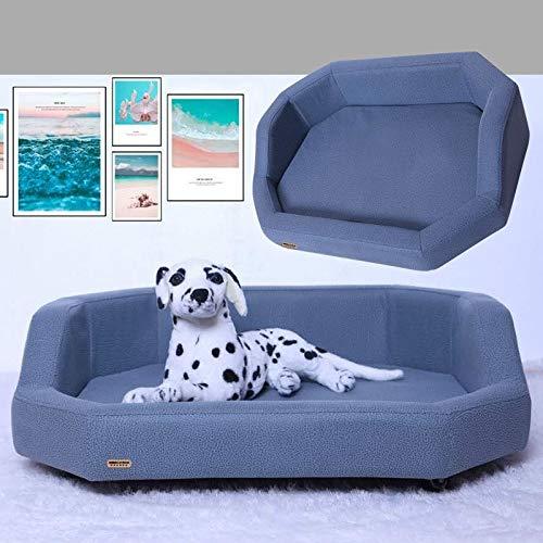 Cómoda Cuero de la PU Pet Square sofá-Cama for Cuatro Estaciones Universal Huangchuxin (Color : Gray)
