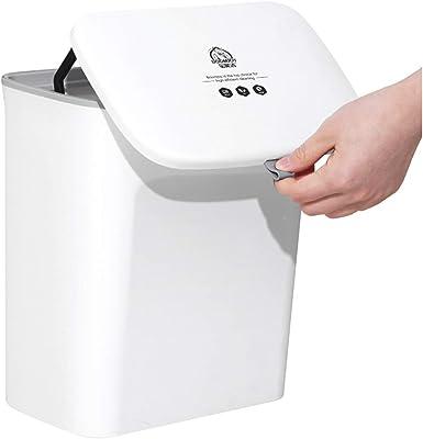 壁掛けゴミ箱, 7L / 9Lキッチン壁掛けカバーゴミ箱キッチンゴミ箱トイレリビングルームハンギング廃棄物収納バック (Color : 7L)