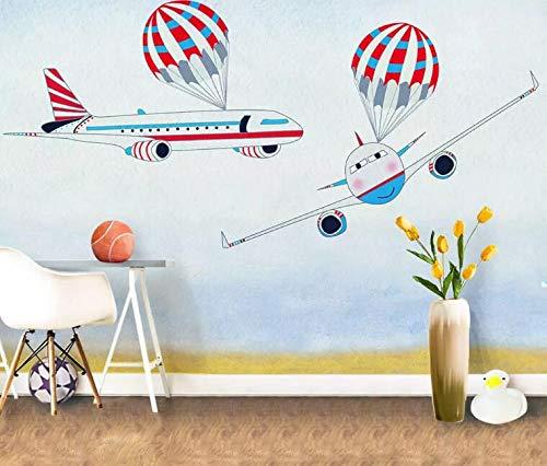 """AJ WALLPAPER 3D Luftballons Und Flugzeuge WG1687 Tapeten Drucken Abziehbild Deko Innen Wandgemälde Selbstklebend Tapete DE Kristen (gewebt Papier (Notwendigkeit Leim), 【123""""x87""""】 312x219cm(BxH))"""