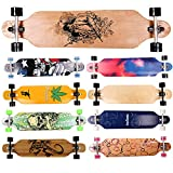 FunTomia Longboard Skateboard Drop Through Cruiser Komplettboard...