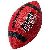 Franklin Sports Grip-Rite 100 - Ballon de football américain en caoutchouc pour enfant, Mixte, Franklin Sports Grip-Rite 100 Rubber Junior Football - Red, Rouge