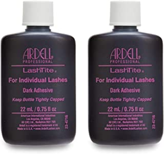 Ardell LashTite Lash Adhesive Dark for Individual Lashes, 0.75 oz x 2 pack