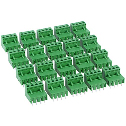 UKCOCO PCB Mount Screw Klemmenblock Pluggable PCB Terminal Connector 5.08MM 4 Pins Gerader Nadel Looper 2EDG Socket PCB Connector