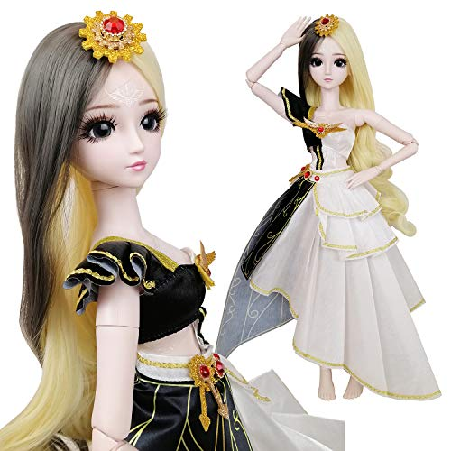 """Justice 1/3 BJD SD Doll Girl 24"""" 60cm 19 Jointed BJD Dolls Full Set Toy Goddess + Accessory"""