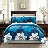 Chic Home Chase Blue 3-Piece Quilt Set Queen 3 Piece