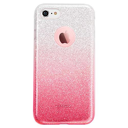 ESRGlitzer Bling Hülle kompatibel mitiPhone7,iPhone8 Hülle [Glänzende Mode] Designer Schutzhülle füriPhone7/8 4.7 Zoll - Silber/Rosa
