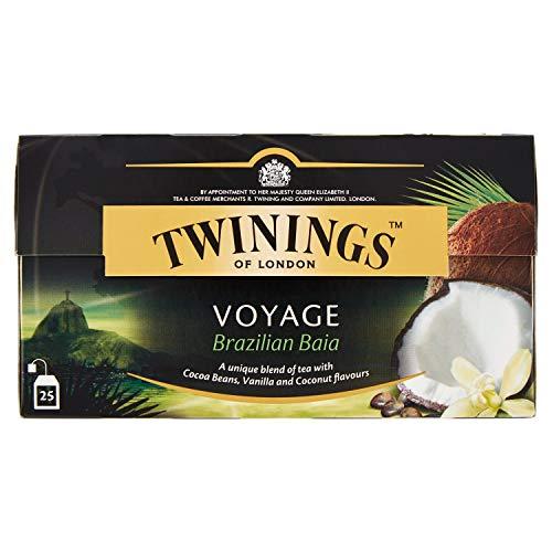 Twinings Tè Nero Aromatizzato Voyage Brazilian Baia - 25 Filtri