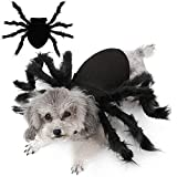 Malier Halloween Dogs Cats Costume Furry Giant Simulation Spider Pets Outfits Cosplay Dress up Costume Halloween Pets Accessories Decoration for Dogs Puppy Cats (Medium)