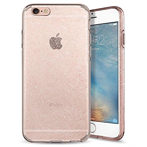 Spigen Liquid Crystal Glitter Kompatibel mit iPhone 6S/6 Hülle, Glitzer Design TPU Silikon Handyhülle Passgenau Schutzhülle Case Cover Crystal Quartz