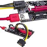 Tarjeta de adaptador de elevación mejorada, PCIe de 60 cm, PCIe 1x a 16x USB 3.0 Cable de datos Bitcoin Tarjeta de minería perfecta para tarjeta gráfica GPU Express Ethereum Mining ETH