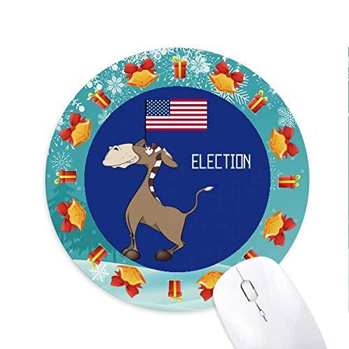 Demokratische Eselsbrücke die Wahl der Fahne Mousepad Rund Gummi Maus Pad Weihnachtsgeschenk