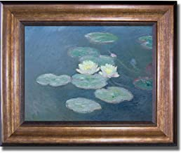 Nympheas by Claude Monet Premium Bronze-Gold Framed Canvas (Ready-to-Hang)