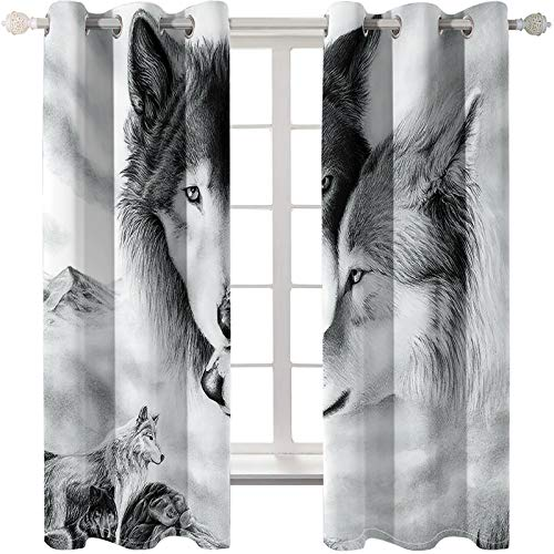 3D Animal Decoration Curtain Waterproof And Mildew Proof Blackout Curtains Suitable For Large Curtains In Hotels, Shopping Malls And Villas 2 Pieces