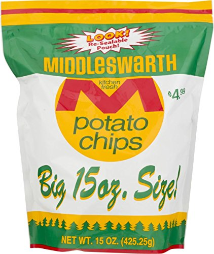 Middleswarth Chips, Regular, 15-Ounce (Pack of 2)