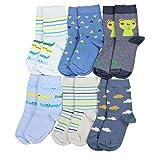 TupTam Kinder Unisex Socken Bunt Gemustert 6er Pack, Farbe: Junge 8, Socken Größe: 31-34