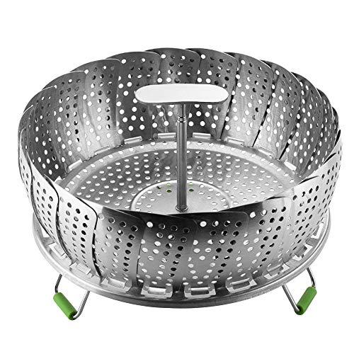 IWILCS Dampfgarer Einsatz für Topf, Dünsteinsatz faltbar, Dampfgar-Einsatz, Faltbar Dämpfkorb, T-förmiges Dampfgitter, für Gedämpftes Essen Gemüse, Kochtöpfe und verschiedenes Kochen(9 Zoll)