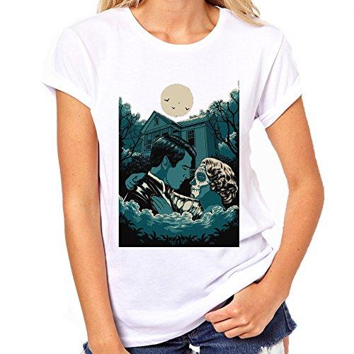 Paar knuffelen bij nacht T-Shirt Womens Classic T-Shirt