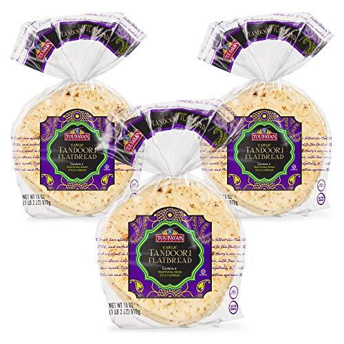 Toufayan Bakery, Garlic Tandoori Indian Flatbread, All Natural, Non-GMO (Garlic, 3 Pack)