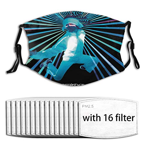 Euochengqus Jamiroquai A Funk Odyssey Anti-Staub Nebelmasken K?nnen Den Schutz Reinigen Und Wiederverwenden with Filter with 16 Filter