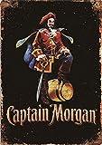 CDecor Captain Morgan Blechschilder, Metall Poster, Retro