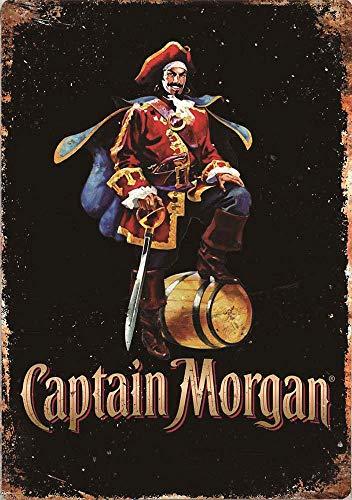 Captain Morgan Metall Blechschild Retro Metall gemalt Kunst Poster Dekoration Plaque Warnung Bar Cafe Garage Party Game Room Hauptdekoration