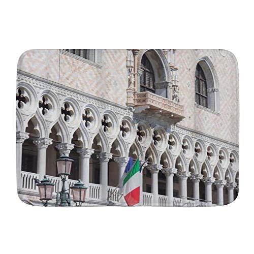 """BCVHGD Badematte Bad Teppiche, San Marco Platz Palazzo Ducale Venedig Italien,mit Rutschfester Rückseite, 29,5\""""x 17,5\"""""""
