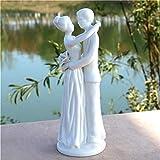 LOSAYM Skulpturen Skulptur Romantische Porzellan Hochzeitsliebhaber Statue Keramik Ehepaar Skulptur Handwerk Ornament Hochzeitsdekor