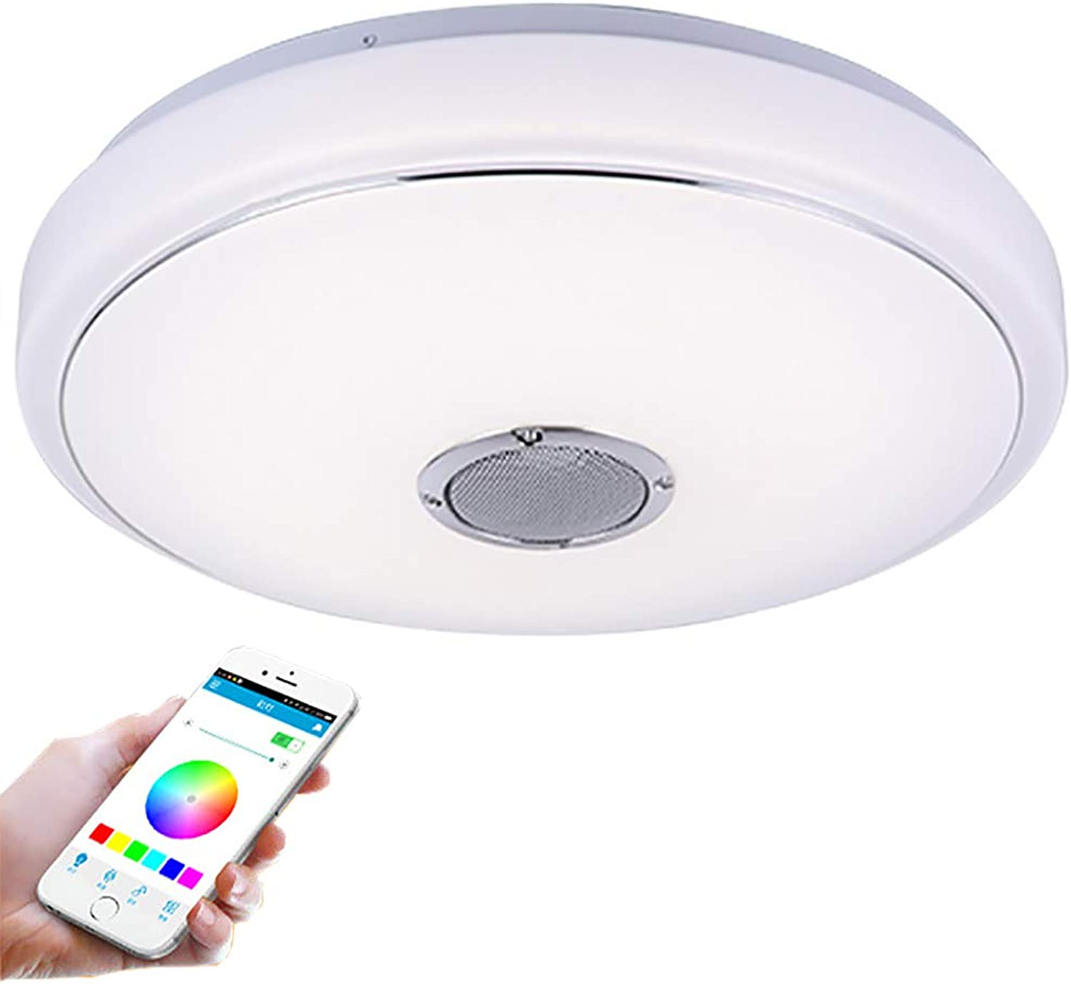 CMES LED Ceiling Light Mit Blautooth Speaker Music Sync Mount Dimmable Ceiling Lampen-Stamm Für Living Room Bedroom Dining Room
