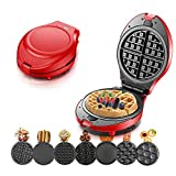 Multifunction Waffle Maker, Electric Doughnut Ice Cream Cone Grill Cake Oven Pan Egg