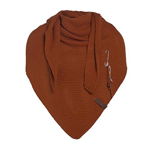 Knit Factory Damen Schal COCO - Dreieck Schal 190 x 85 cm (Terra)