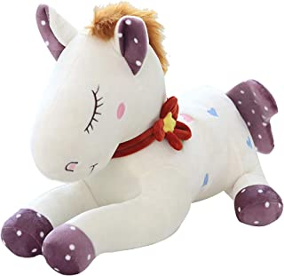Dollhouse Dolls Accessories Unicorn Plush Toy Horse Doll Doll Mount Doll Girl Cute Cartoon Doll Girl Birthday Gift (Color : Brown, Size : 90CM)