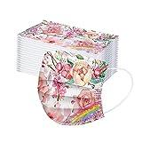 skiyy 50pcs 3-Layer Adult Towel Protection Flower Print para Actividades al Aire Libre Fiesta Escolar con elástico (Colour-3)