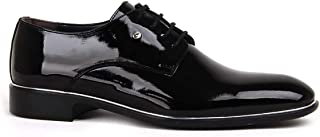 Föz Siyah Damatlık Günlük Rugan Klasik Erkek Ayakkabı