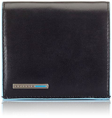 Piquadro PU1741B2 Portafoglio, Collezione Blu Square, Nero