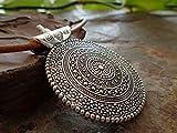 Zoom IMG-1 amulet mandala grande naturale colletto