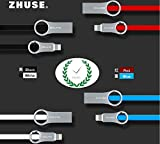 Sansan Device# Apple Devices Charge Cord Lightning USB Cable-Zinc Alloy Dimensional Drawing Cable 39.37 Inch (1 Meters)-Compatible for iPhone(IOS6 & Higher),iPad Air, iPod Nano,Beats Pill+ (Blue)