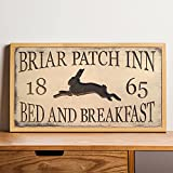 by Unbranded Cartel de madera tallada a medida – Briar Patch Inn Bed and Breakfast Cartel de madera enmarcada, para casa, sala de estar, oficina, escuela, boda, pasillo, gran idea de regalo.